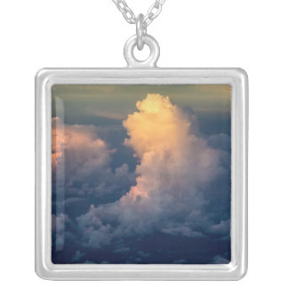 Clouds in the sky Cloudscape Silver Plated Necklace