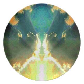 Clouds Kiss Abstract Pop Art Photo Wall Decor Plate