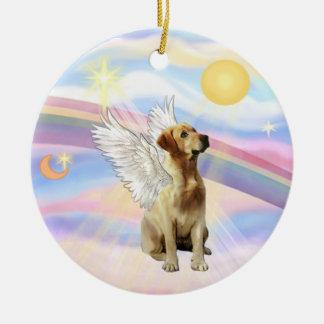 Clouds - Labrador (yellow) Christmas Ornament