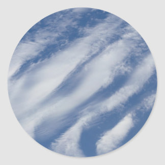 clouds lay down classic round sticker