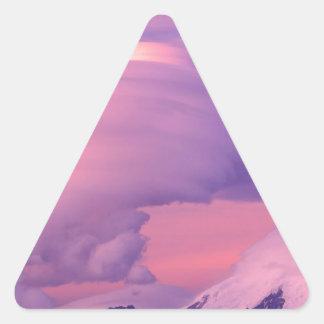 Clouds Lenticular Over Mount Drum Alaska Triangle Sticker