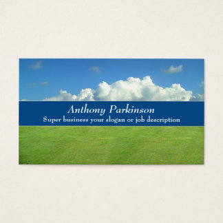 clouds life nature business card