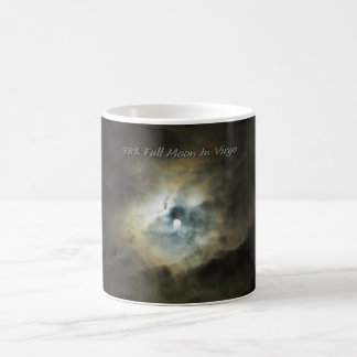 Clouds Lit Up By The Full Moon in Virgo Coffee Mugs