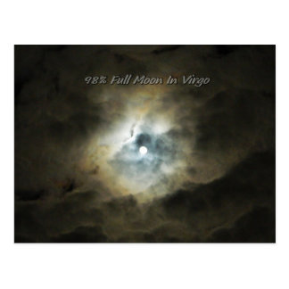 Clouds Lit Up By The Full Moon in Virgo Postcard