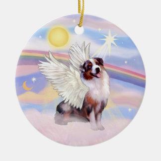 Clouds - Merle Australian Shepherd Angel (#1) Ceramic Ornament