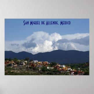 Clouds Mountains San Miguel de Allende Poster