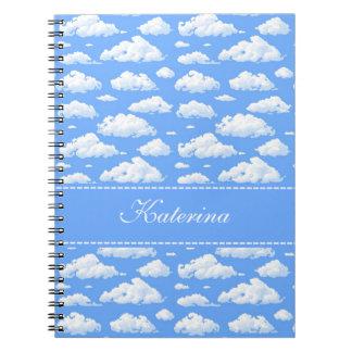 Clouds Spiral Note Books