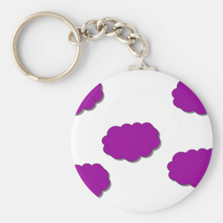Clouds of Colour Basic Round Button Keychain