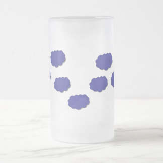 Clouds of Colour Frosted Glass Mug