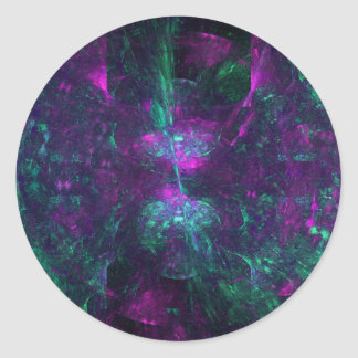 """""""Clouds of Confusion"""" Fractal Art Classic Round Sticker"""