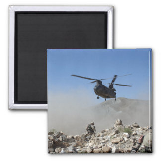 Clouds of dust kicked up by the rotor wash 2 inch square magnet