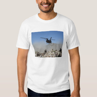 Clouds of dust kicked up by the rotor wash tee shirt