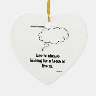 Clouds of Inspiration heart ornament