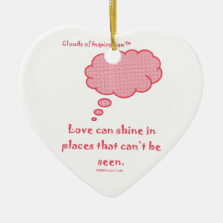 Clouds of Inspiration Love shines Ceramic Ornament
