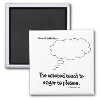Clouds of Inspiration magnet:  Coveted touch 2 Inch Square Magnet