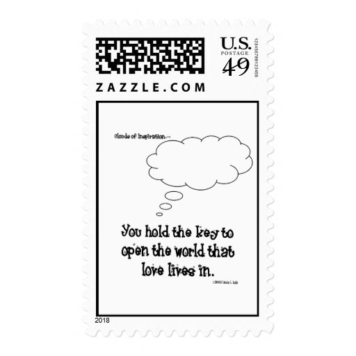 Clouds of Inspiration postage stamp