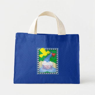 Clouds of Inspiration tote bag; love kisses