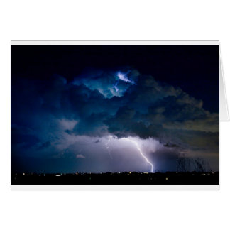 Clouds of Light. Lightning Striking Boulder Count Card