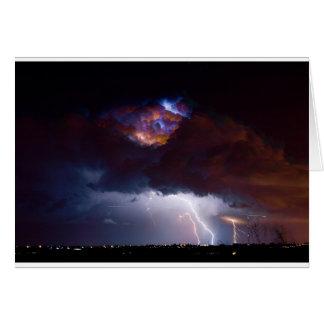 Clouds of Light. Lightning Striking Boulder County Greeting Card