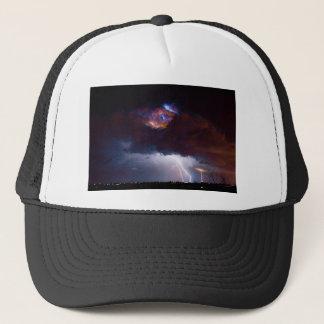 Clouds of Light. Lightning Striking Boulder County Trucker Hat