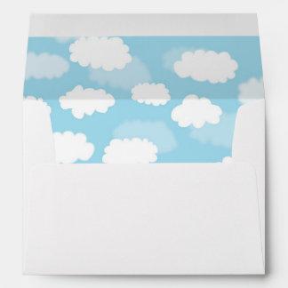 Clouds on Blue Envelope Liner Envelopes