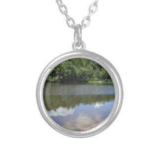 Clouds on the Water Round Pendant Necklace