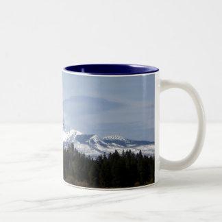 Clouds on Three Fingered Jack Coffee Mugs