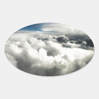 Clouds Oval Sticker