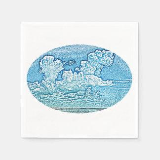 clouds over beach sketch florida sky cool disposable napkin