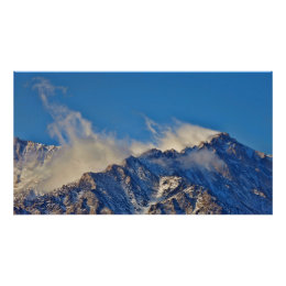 Clouds over Eastern Sierras Poster