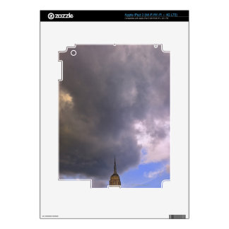 Clouds over Empire State Building Skins For iPad 3