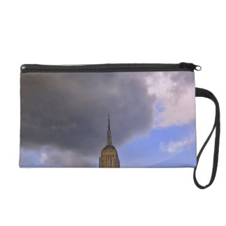 Clouds over Empire State Building Wristlet Purse