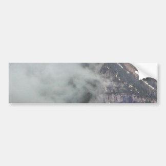 Clouds Over Glacier Car Bumper Sticker