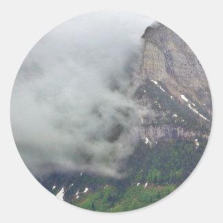 Clouds Over Glacier Classic Round Sticker