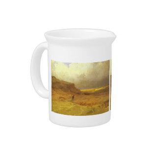 Clouds over Hills. Study by Fyodor Vasilyev Beverage Pitchers