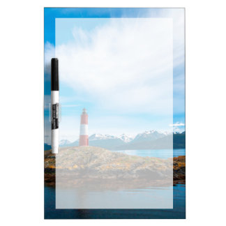 Clouds over lighthouse near Ushuaia, Argentina Dry-Erase Board