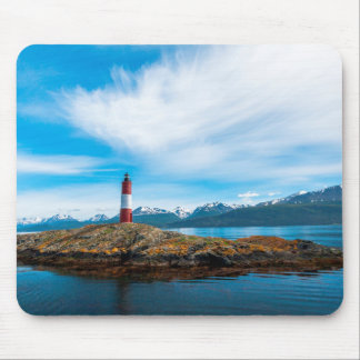 Clouds over lighthouse near Ushuaia, Argentina Mouse Pad