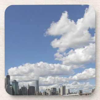 Clouds over Manhattan Cork Coaster