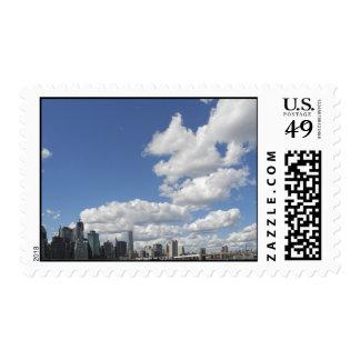 Clouds over Manhattan Postage