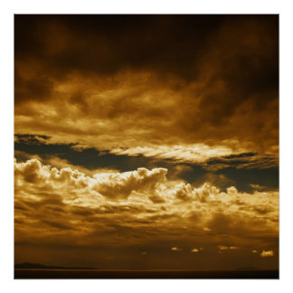 Clouds over Mediterranean Sea Poster