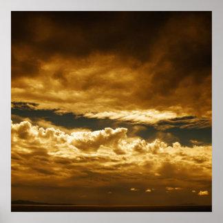 Clouds over Mediterranean Sea Poster