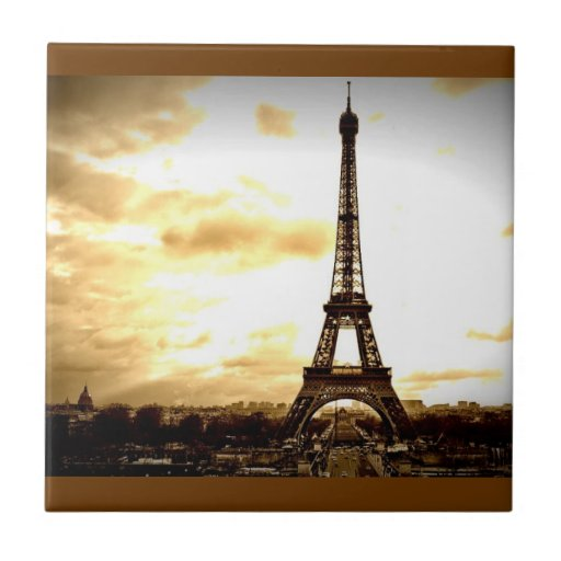 Clouds Over Paris Small Square Tile