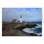 Clouds Over Portland Head Lighthouse Stationery Note Card