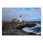 Clouds Over Portland Head Lighthouse Card
