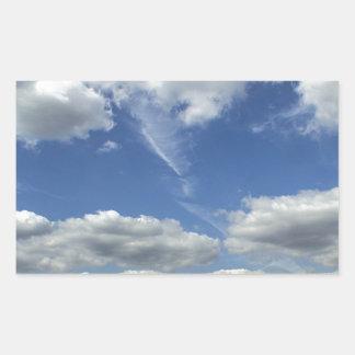 Clouds over Springfield Rectangular Sticker