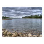 Clouds Over The American River Postcard