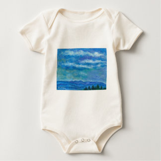 Clouds over the Blue Ridge Baby Bodysuit