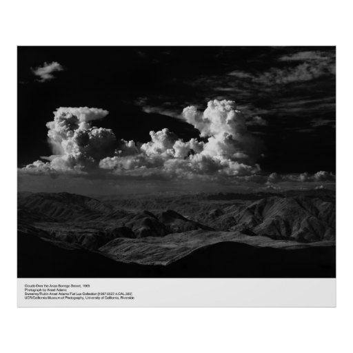 Clouds Over the Desert, 1965, by Ansel Adams Poster