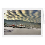 Clouds over the Ireland Farm Greeting Card