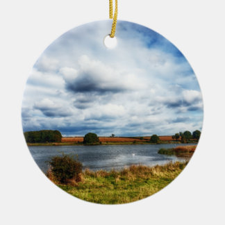 Clouds Over the Lake HDR Landscape Ceramic Ornament